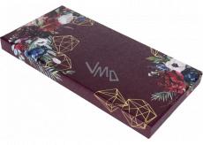 Albi Paper gift box Flowers on burgundy 22.4 x 10.8 x 1.8 cm