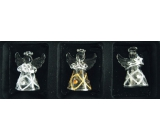 Angels made of glass set of 3 diamonds and stones, 4.5 cm