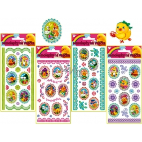 Decals Easter oval stickers 19 x 9 cm, 1 piece