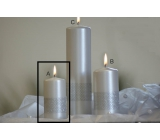 Lima Ribbon candle pearl cylinder 50 x 100 mm 1 piece