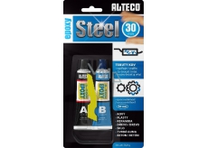 Alteco Epoxy Steel 30 min two-component epoxy adhesive with 56.8 g filler