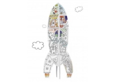 Monumi Racket jigsaw puzzle for children 5+ height 70 cm