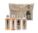 Bohemia Gifts & Cosmetics Gentleman shower gel 50 ml + 50 ml hair shampoo + 50 ml body lotion + bottle for filled, travel package for men
