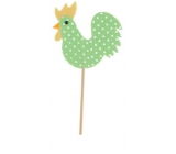Felt tap with polka dots 7,5cm + green skewers