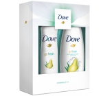 Dove Go Fresh Pear and Aloe Vera shower gel for women 250 ml + deodorant antiperspirant spray for women 150 ml, cosmetic set