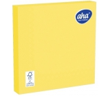 Aha Paper napkins 3 ply 33 x 33 cm 20 pieces one color yellow