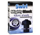 Swirl Mighty Black Black linen napkins for washing machine 12 pieces