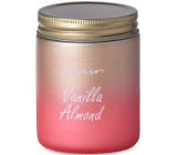 Emocio Vanilla Almond - Vanilla almond scented candle glass with tin lid 74 x 95 mm