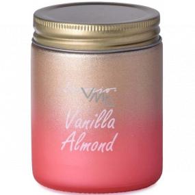 Emocio Vanilla Almond - Vanilla almond scented candle glass with tin lid 74 x 95 mm