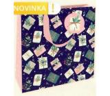 Nekupto Gift paper bag luxury 23 x 23 cm Gifts Christmas WLIM