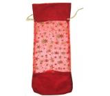 Gift bag fabric Christmas motif 37 x 16 cm 1 piece