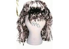 Metallic wig alu short silver