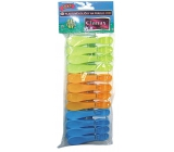 Clanax Jumbo colored plastic pins for clothes 12 pieces