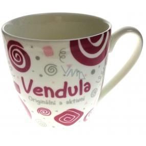Nekupto Twister mug named Vendula pink 0.4 liter