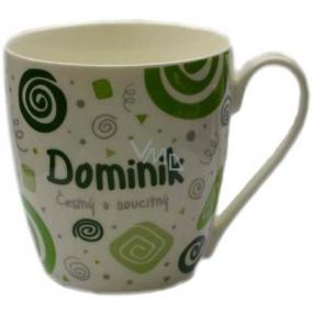 Nekupto Twister mug named Dominik green 0.4 liters
