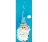 Leprechaun white with silver sequins for hanging 10 cm