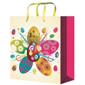 Anděl Taška velikonoční dárková M Kytka z vajíček 23 x 18 x 10 cm