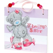 Me to You Dedication plaque For a wonderful sister 11 x 11 x 0.5 cm