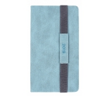 Diary with a wide rubber band Blue
