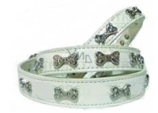 Barex collar white decorated with cubes 1.5 x 35 cm