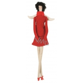 Angel cloth for fitting, in red 43 cm 3964 8418
