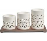 Yankee Candle Belmont Multi ceramic tealight candlesticks with metal base, gift set