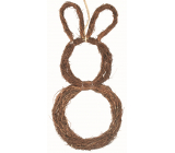 Wicker hare for hanging 44 cm