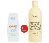 Ziaja Sun SPF 50+ antioxidant cream with vitamin C 50 ml + Argan oil creamy shower soap 500 ml, duopack