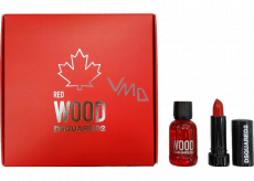 Dsquared2 Red Wood eau de toilette for women 5 ml + lipstick 1.2 g, gift set