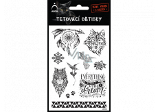 Arch Tattoo Decals Black Dream Catcher 14 x 11 cm