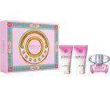 Versace Bright Crystal eau de toilette for women 50 ml + body lotion 50 ml + shower gel 50 ml, gift set