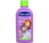 On Line Kids Sofia Borůvka 2v1 sprchový gel a šampon na vlasy pro děti 250 ml