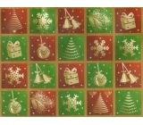 Nekupto Gift kraft bag medium 23 x 18 x 10 cm red Green squares