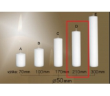 Lima Gastro smooth candle white cylinder 50 x 210 mm 1 piece