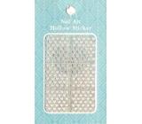 Nail Accessory Hollow Sticker nail templates multicolored hearts 1 sheet 129