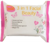 Cherish 3 in 1 cosmetic wipes 25 pieces