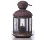 Emos Metal lantern 13 x 24,5 cm, 1 LED warm white + timer