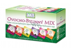 Fytopharma Ovocno - herbal Mix of teas 6 types of 5 pieces, 30 x 2 g