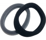 Hair band black, gray 5 x 1 cm 2 pieces