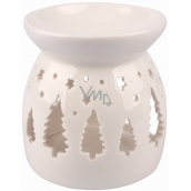 Aromalampa porcelain white with trees 9,9 cm 3476 6651