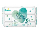 Pampers Aqua Pure BIO cotton wet wipes, alcohol-free and perfumed for children 3 x 48 pieces