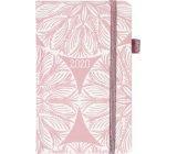 Albi Diary 2020 pocket with rubberette Rosettes 15 x 9.5 x 1.3 cm