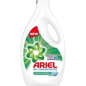 Ariel Mountain Spring Liquid Wash Gel For Clean And Fragrant Spots 48 doses of 2.64 l