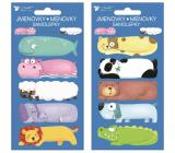 Self-adhesive name tags Animals 8 x 16 cm