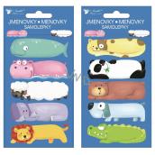 Self-adhesive gift tags Animals 8 x 16 cm