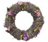 Wreath intertwined with lavender decor 32 cm