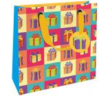 Nekupto Gift paper bag luxury 23 x 23 x 10 cm 1870 LIM