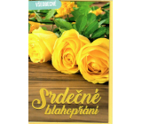 Nekupto General greeting card Yellow roses 115 x 170 mm 3567 F