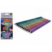 Colorino Round metallic crayons, 10 colors