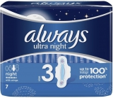 Always Ultra Night sanitary towels with wings 7 pieces